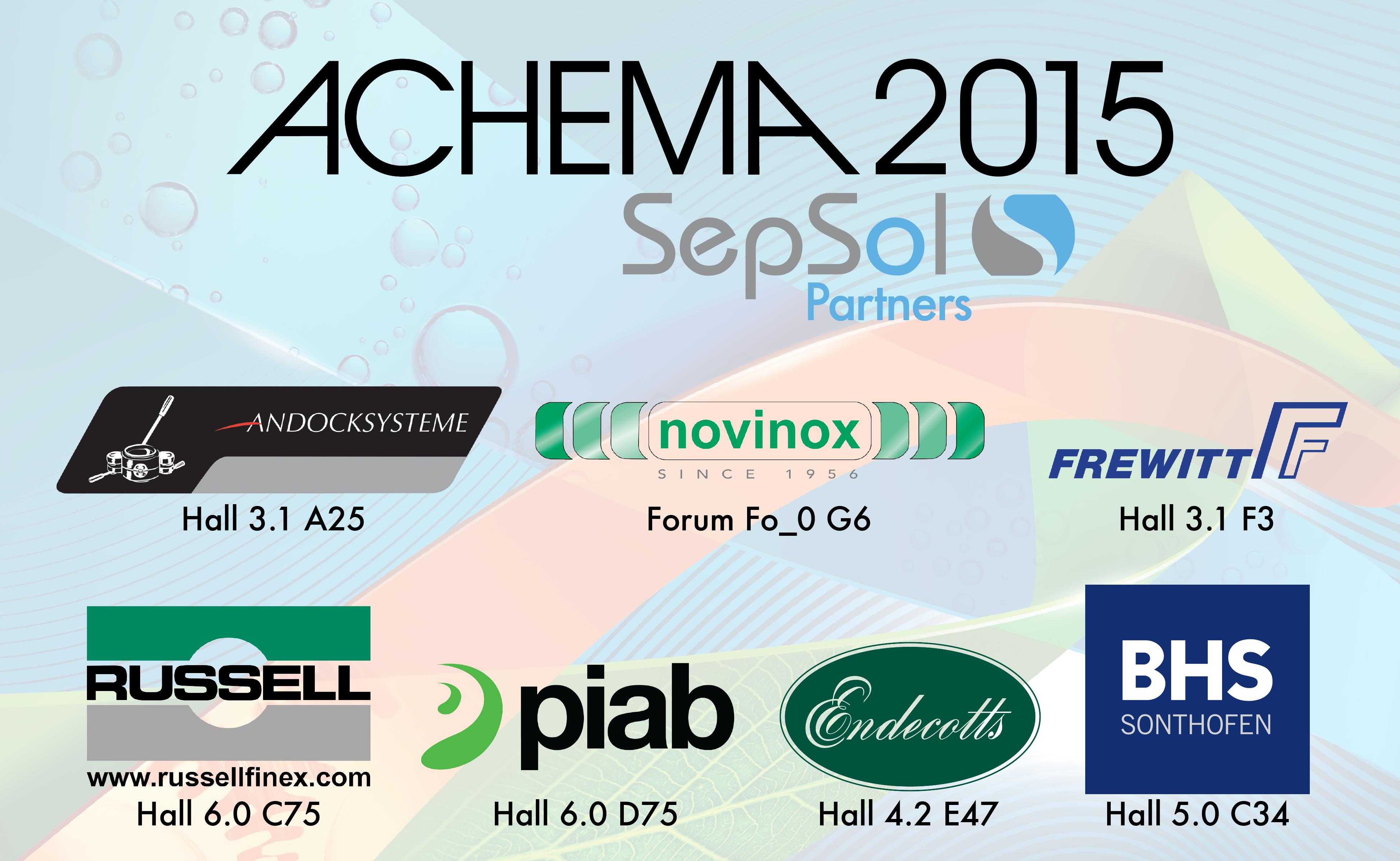Achema 2015 SepSol Partners