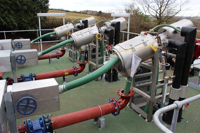 Russell liquid solid separator removes algae
